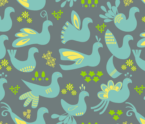 Flying South fabric by fable_design on Spoonflower - custom fabric