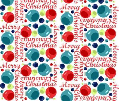 Merry Christmas fabric by juliapaigedesigns on Spoonflower - custom fabric