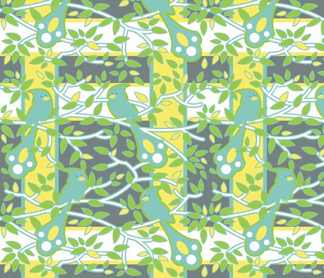 fancy bird plaid fabric by zinniagirl on Spoonflower - custom fabric