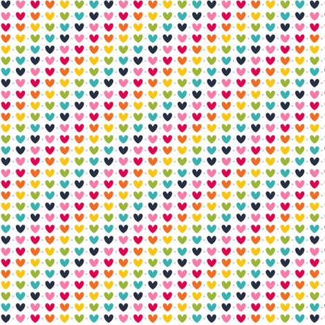 live free : love life hearts rainbow fabric by misstiina on Spoonflower - custom fabric