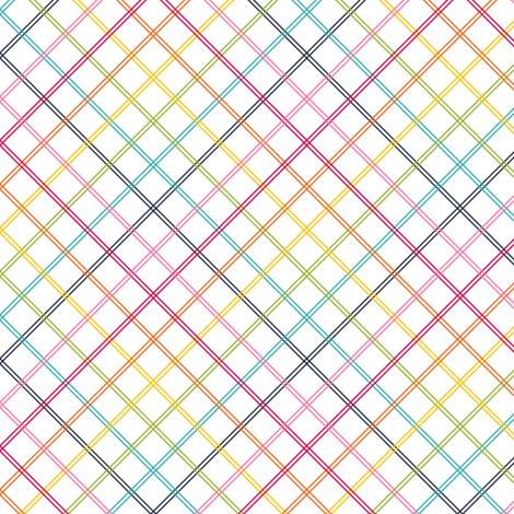 live free : love life plaid rainbow fabric by misstiina on Spoonflower - custom fabric