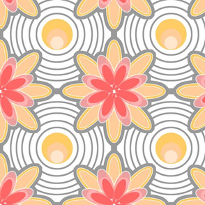 Concentric Circle Flowers