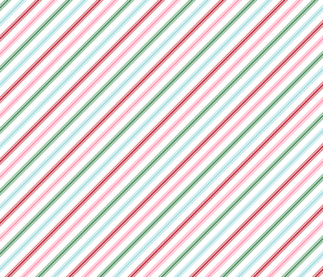 christmas candy cane stripes multi fabric by misstiina on Spoonflower - custom fabric