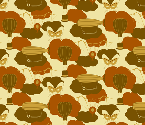 Peculiar Steamy Fancy Flights fabric by modgeek on Spoonflower - custom fabric