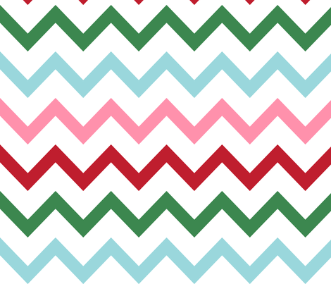 christmas chevron multi one XL fabric by misstiina on Spoonflower - custom fabric