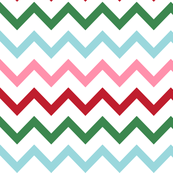 christmas chevron multi one XL