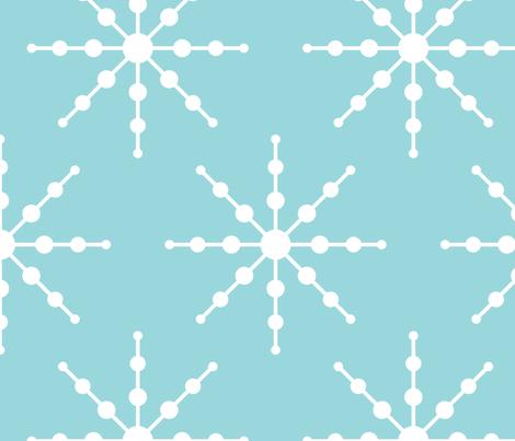 christmas snowflakes on blue XL fabric by misstiina on Spoonflower - custom fabric