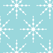 christmas snowflakes on blue XL