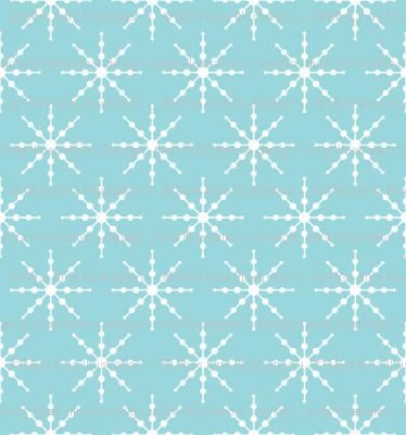 christmas snowflakes on blue LG