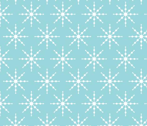 christmas snowflakes on blue LG fabric by misstiina on Spoonflower - custom fabric