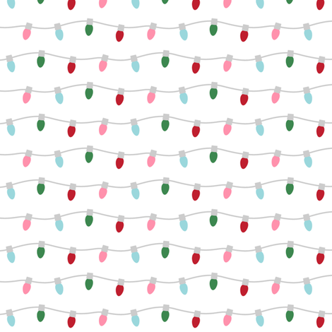 christmas string lights fabric by misstiina on Spoonflower - custom fabric