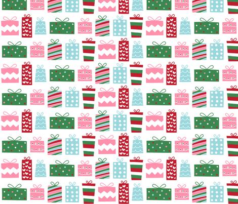 christmas presents fabric by misstiina on Spoonflower - custom fabric