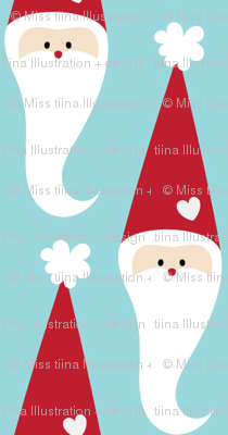 christmas santas with love