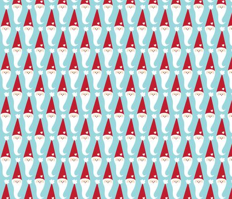 christmas santas with love fabric by misstiina on Spoonflower - custom fabric