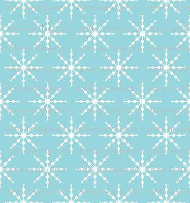 christmas snowflakes on blue