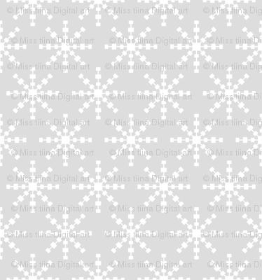 christmas snowflakes on grey