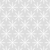 christmas snowflakes on grey