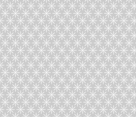 christmas snowflakes on grey fabric by misstiina on Spoonflower - custom fabric