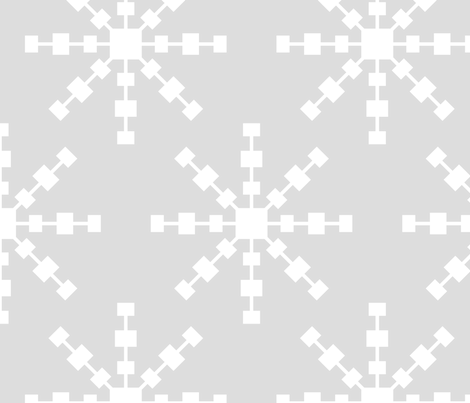 christmas snowflakes on grey XL fabric by misstiina on Spoonflower - custom fabric