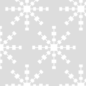 christmas snowflakes on grey XL