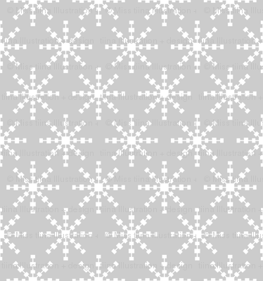 christmas snowflakes on grey LG
