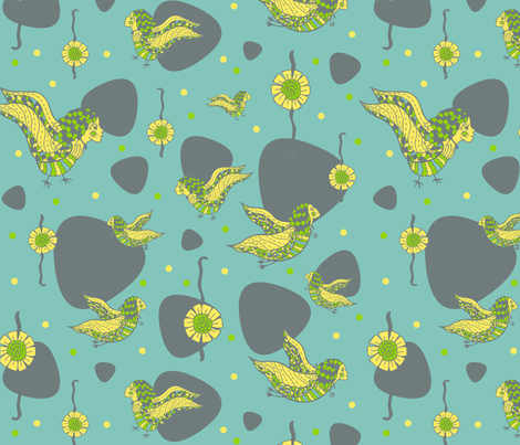 Fancy flight for fancy birds fabric by lucybaribeau on Spoonflower - custom fabric