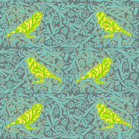 Bird Songs 18 -  Duets - Flights of Fancy  fabric by dovetail_designs on Spoonflower - custom fabric