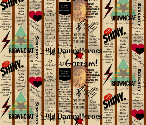 Browncoats Unite fabric by marchhare on Spoonflower - custom fabric