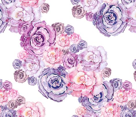 Peonies 5 fabric by milenagaytandzhieva on Spoonflower - custom fabric