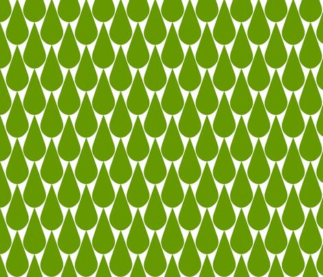 Rain (green) fabric by pattern_bakery on Spoonflower - custom fabric