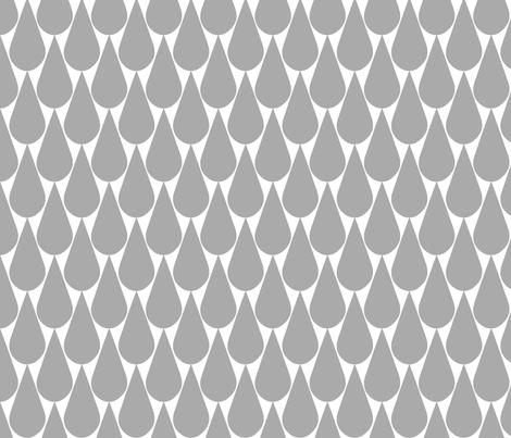 Rain (gray) fabric by pattern_bakery on Spoonflower - custom fabric