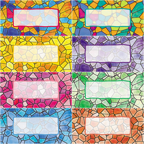 Stained Glass Gift Tags fabric by animotaxis on Spoonflower - custom fabric