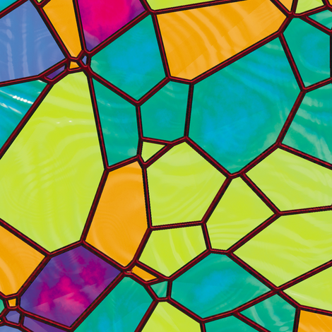 Stained Glass 8 fabric by animotaxis on Spoonflower - custom fabric
