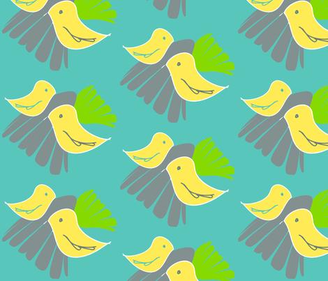 birdies fabric by artsycanvasgirl on Spoonflower - custom fabric