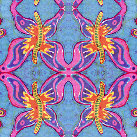 Groovy Butterfly Batik- smaller fabric by hooeybatiks on Spoonflower - custom fabric