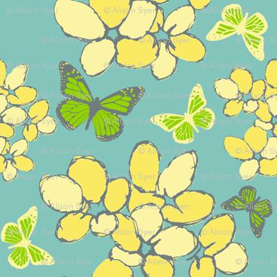Violets & Butterflies Flights of Fancy