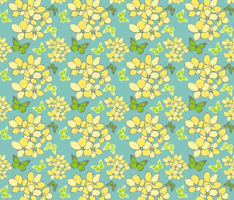Violets & Butterflies Flights of Fancy fabric by eyespotdesigns on Spoonflower - custom fabric