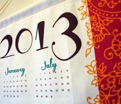 Bollywood Mehndi calendar