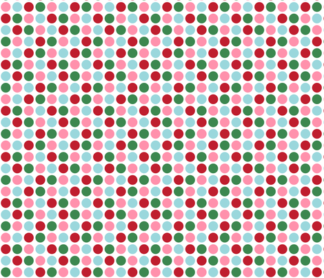 christmas polka dots one fabric by misstiina on Spoonflower - custom fabric