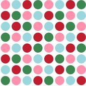 christmas polka dots one XL
