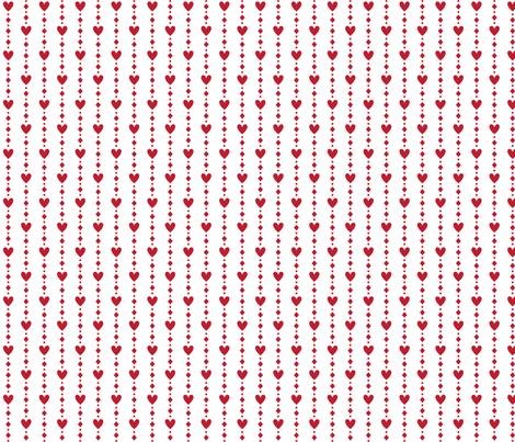 christmas heart strings fabric by misstiina on Spoonflower - custom fabric