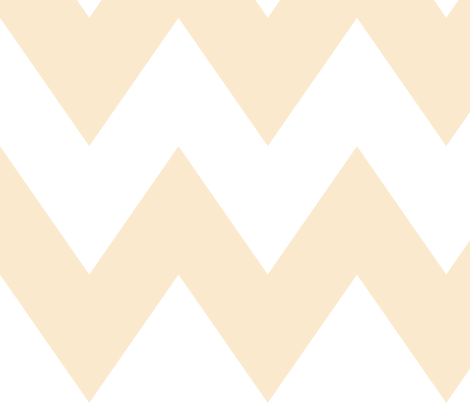chevron xl ivory fabric by misstiina on Spoonflower - custom fabric