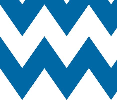 chevron xl royal blue fabric by misstiina on Spoonflower - custom fabric
