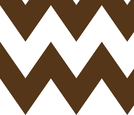 chevron xl brown fabric by misstiina on Spoonflower - custom fabric