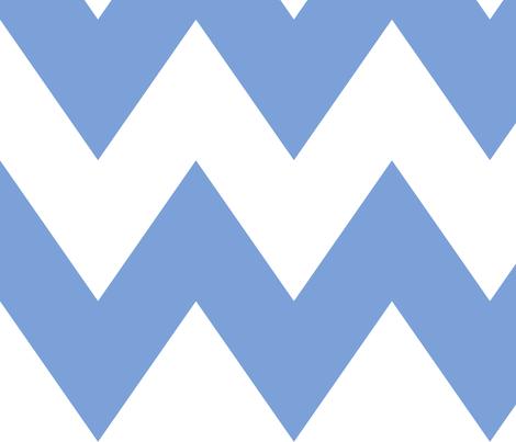 chevron xl cornflower blue fabric by misstiina on Spoonflower - custom fabric