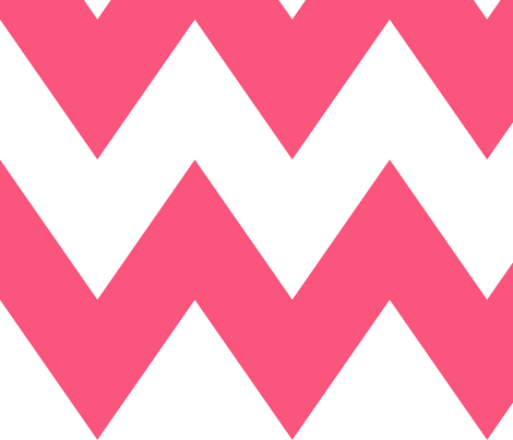 chevron xl hot pink fabric by misstiina on Spoonflower - custom fabric