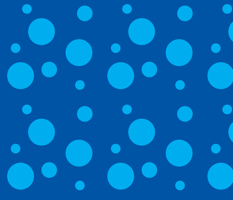 Blue bubbles fabric by mirromaru@gmail_com on Spoonflower - custom fabric