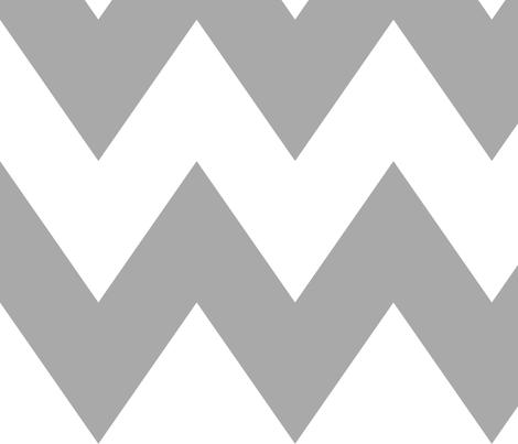 chevron xl grey fabric by misstiina on Spoonflower - custom fabric