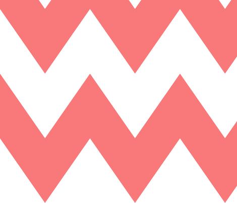 chevron xl coral fabric by misstiina on Spoonflower - custom fabric