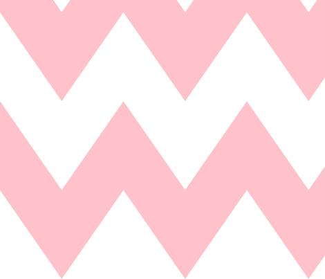 chevron xl light pink fabric by misstiina on Spoonflower - custom fabric